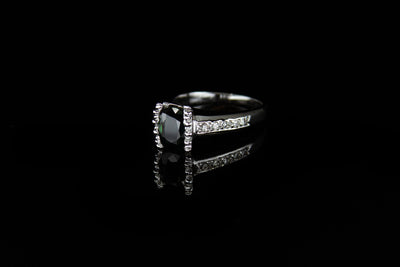 14K W/G Women's Diamond Ring S1.53ct D0.40ct