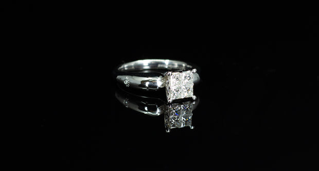 14K W/G Engagement Ring 0.70ct