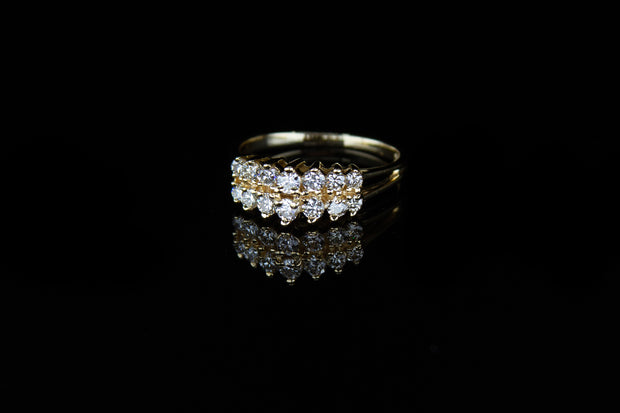 14K Y/G Women's Diamond Ring 0.95ct