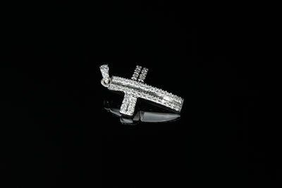 18K W/G Diamond Cross 0.50ct