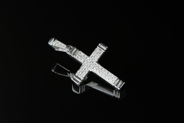 18K W/G Diamond Cross 0.40ct