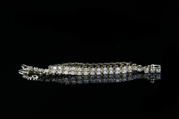 14K Y/G Diamond Bracelet 2.00ct