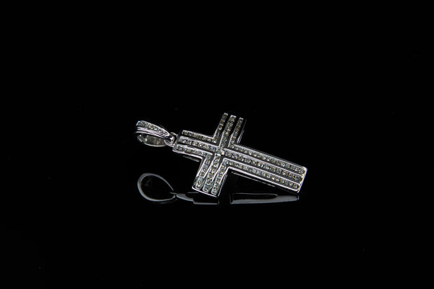 14K W/G Diamond Cross 1.35ct