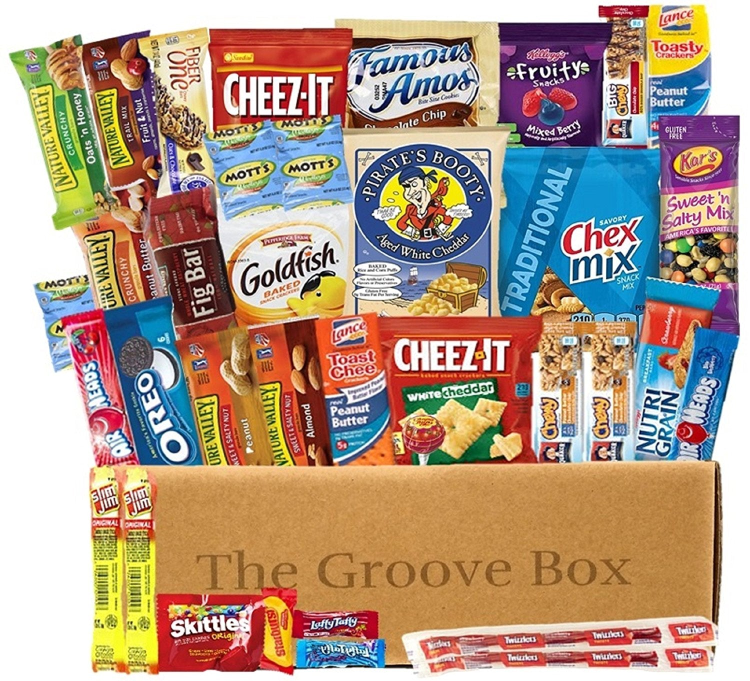 items Care Package American Snack Food The Groove Box Variety Snack Box 35