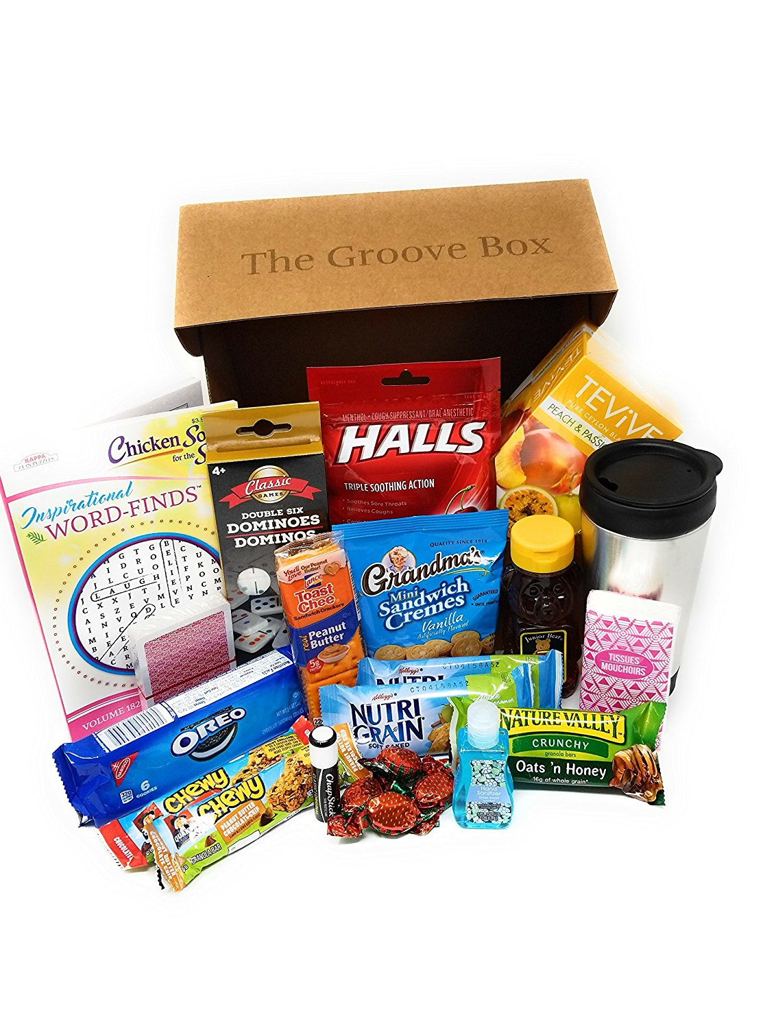 The Groovy Get Well Care Package Send Care And Concern Feel Better Groovy Gifts And Groceries