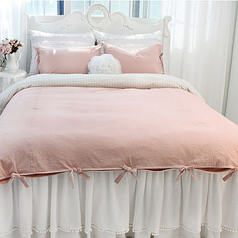 beautiful girl bed