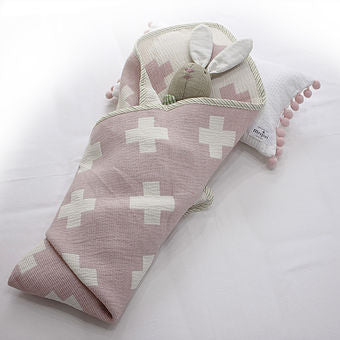 Jacquard Cross Baby Blanket