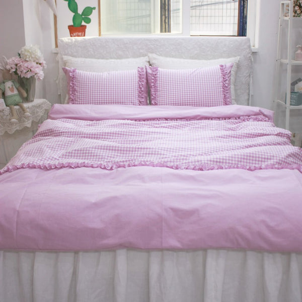 LaLa Bedding Set - Handmade Cotton Duvet Cover and Pillowcases