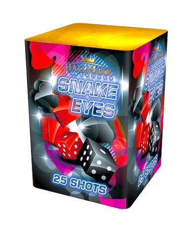 Snake Eyes 25 Shot Cake By Hallmark Fireworks - BUY 1 GET 1 FREE!
