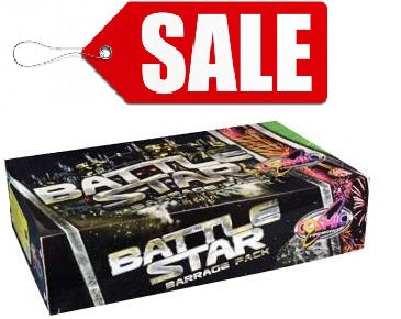 BATTLE STAR 8pc Barrage Pack By Cosmic Fireworks - SALE!