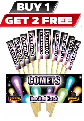 Comet Rocket Pack By Benwell Fireworks - BUY 1 GET 2 FREE!