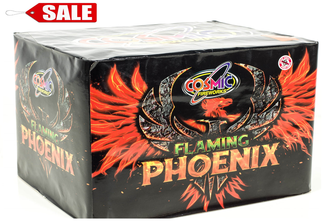 FLAMING PHOENIX 80 Shot By Cosmic Fireworks - ON SALE!