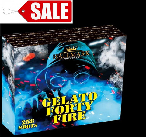 Gelato Forty Fire 258 Shots Compound Cake By Hallmark Fireworks - SALE!
