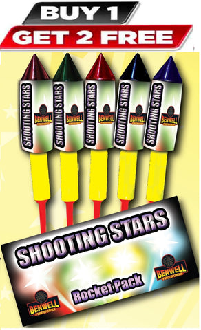 Shooting Star Rockets By Benwell Fireworks - BUY 1 GET 2 FREE!