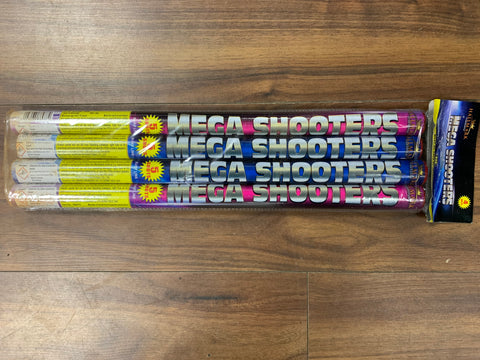 Mega Shooters - 5 Shot Roman Candles (Pack of 4) By Hallmark Fireworks - BUY 1 GET 1 FREE!