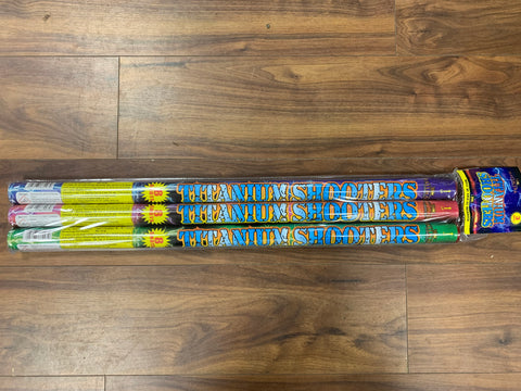 Titanium Shooters - 8 Shot Roman Candles (Pack of 3) By Hallmark Fireworks - BUY 1 GET 1 FREE!