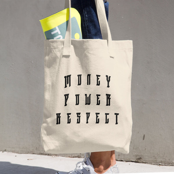Cotton Tote Bag - Money Power Respect