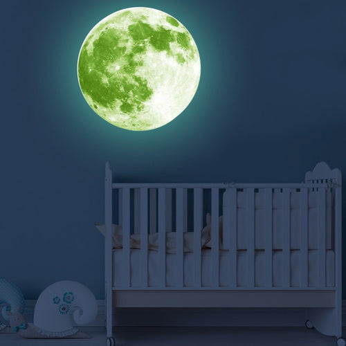 30CM Large Glow Moon DIY Wall Decals for Baby