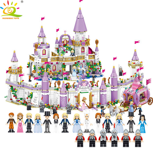 5 Styles Castle Princess Figures Sets Building Blocks