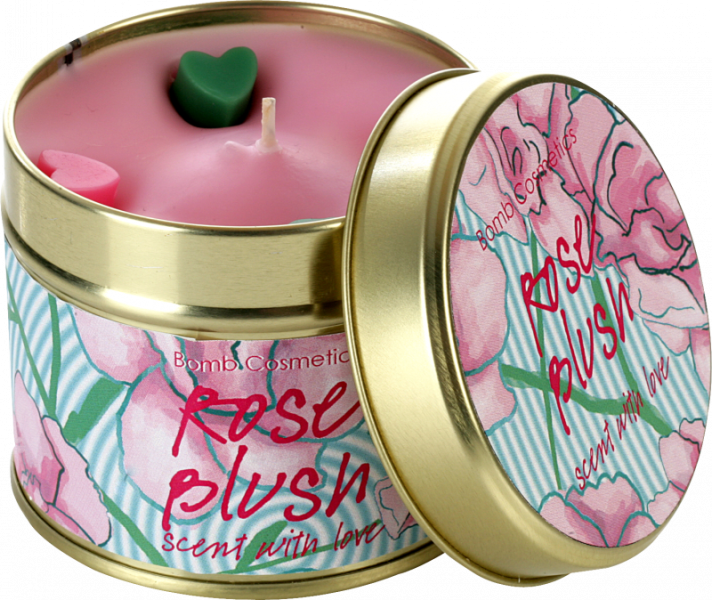 Rose Blush Tin Candle
