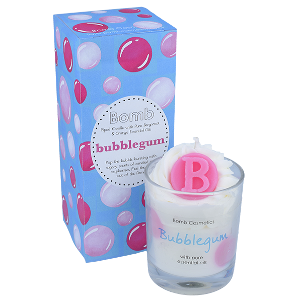Bubblegum Piped Glass Candle