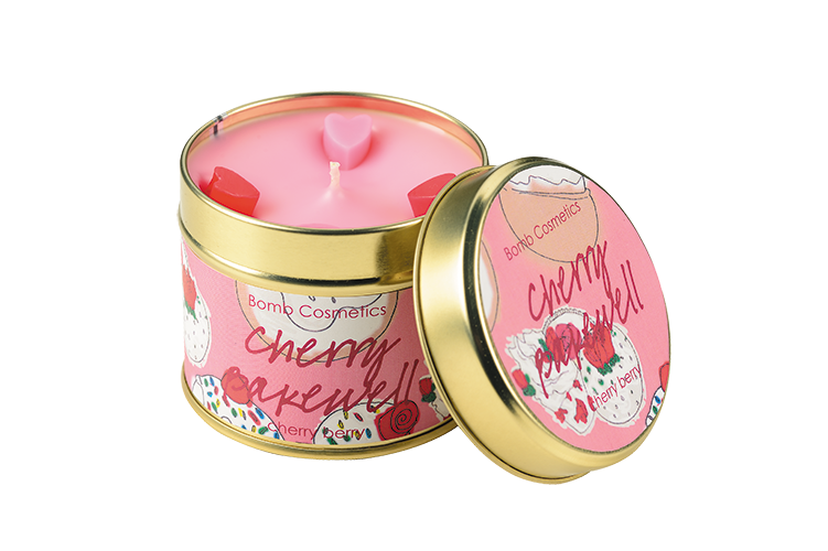 Cherry Bakewell Tin Candle