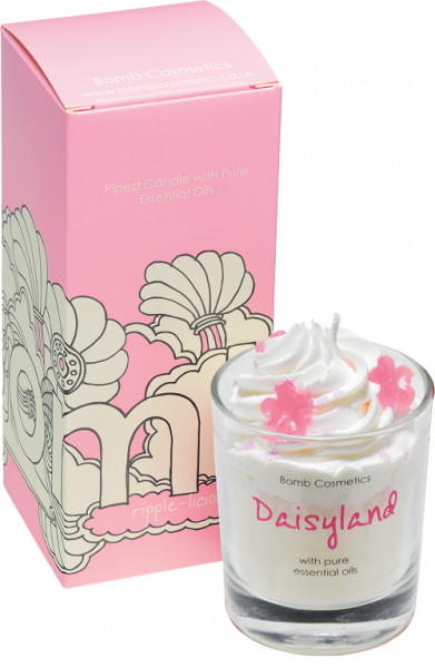 Daisyland Piped Glass Candle