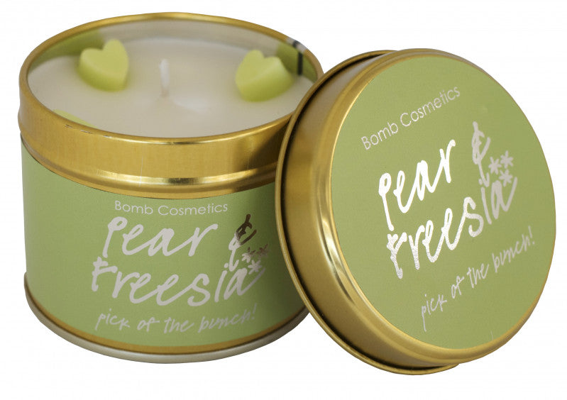 Pear & Freesia Tin Candle