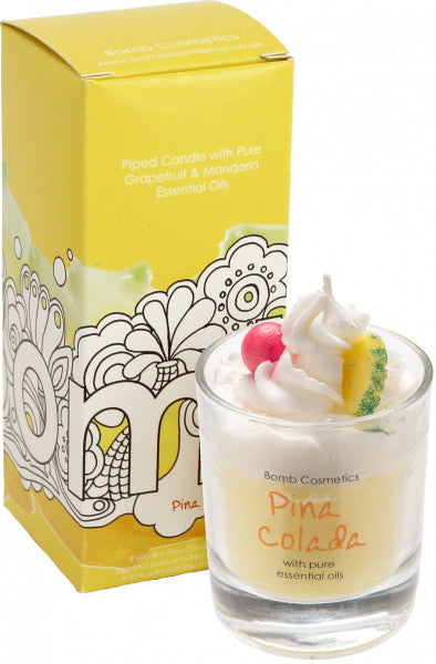 Pina Colada Piped Candle