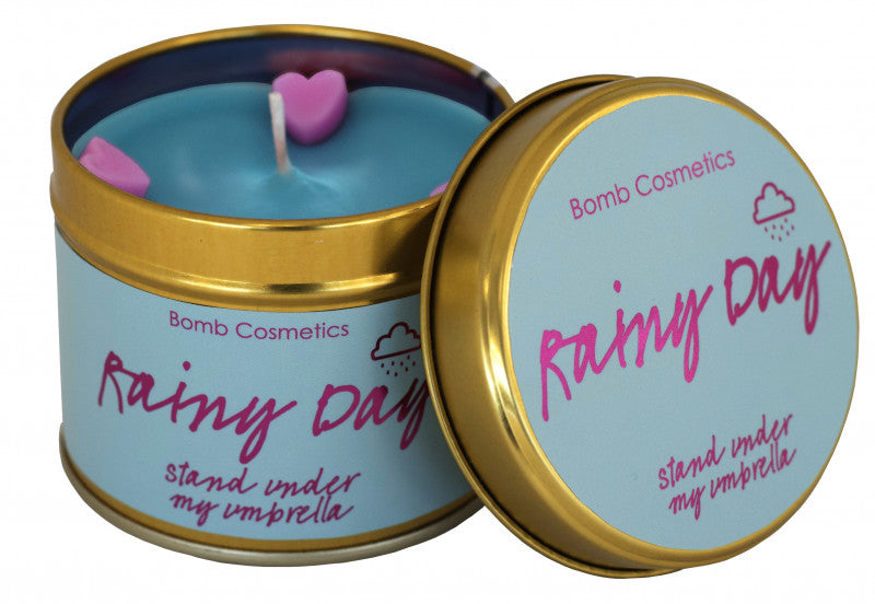 Rainy Day  Tin Candle