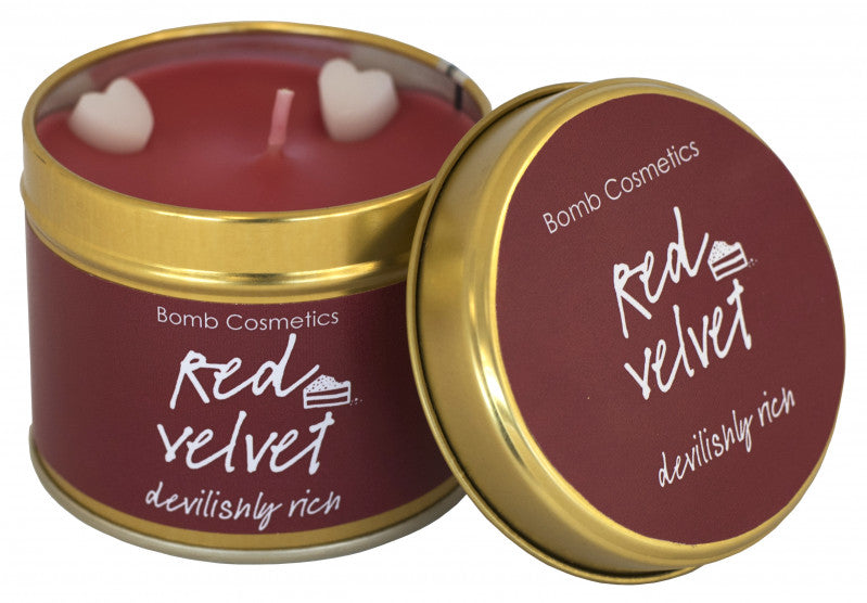 Red Velvet Tin Candle