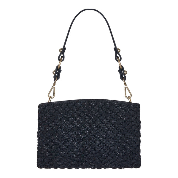 Naia Day Shoulder Bag and Clutch Black