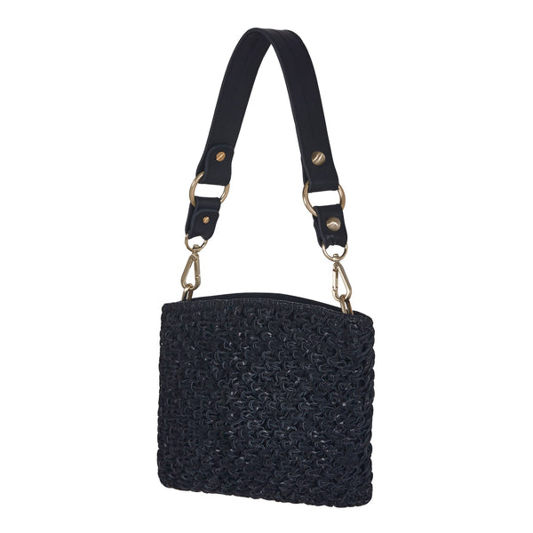 Naia Day Shouder Bag and Clutch Black