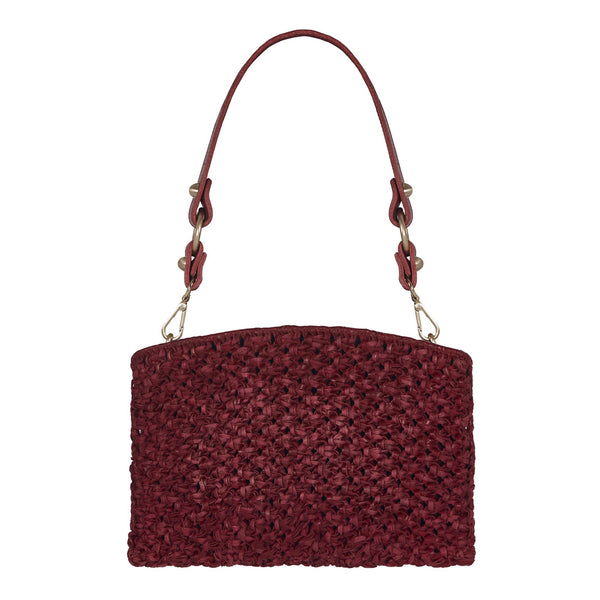 Naia Day Shoulder Bag and Clutch Burgundy