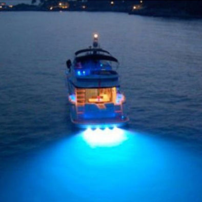 100% Anti-Corrosion Super Bright 9W Underwater Boat Lamp Led Light Lamp Boat Spot Flood Light Boat Drain Plug Light