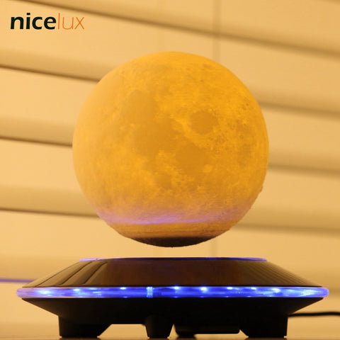 3D Print Levitation Moon Lamp, Magnetic Floating LED Night Light, Levitating Toy Gift Wireless Power Supply, Creative Home Light