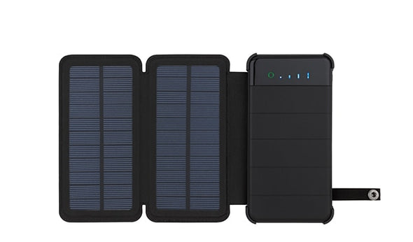 Folding Foldable Waterproof Solar Power Bank 10000mah Portable Charger Solar Panel Charger External Battery Universal Powerbank