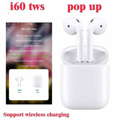 Original i60 TWS pop up 1:1 mini wireless Bluetooth 5.0 earphone