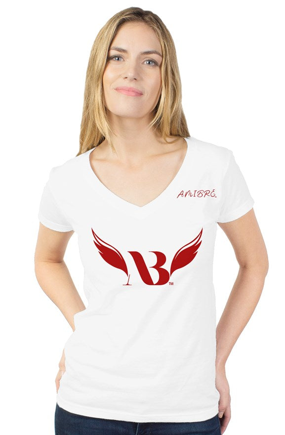 Amibre™ Women's Embroidery Classic V-Neck