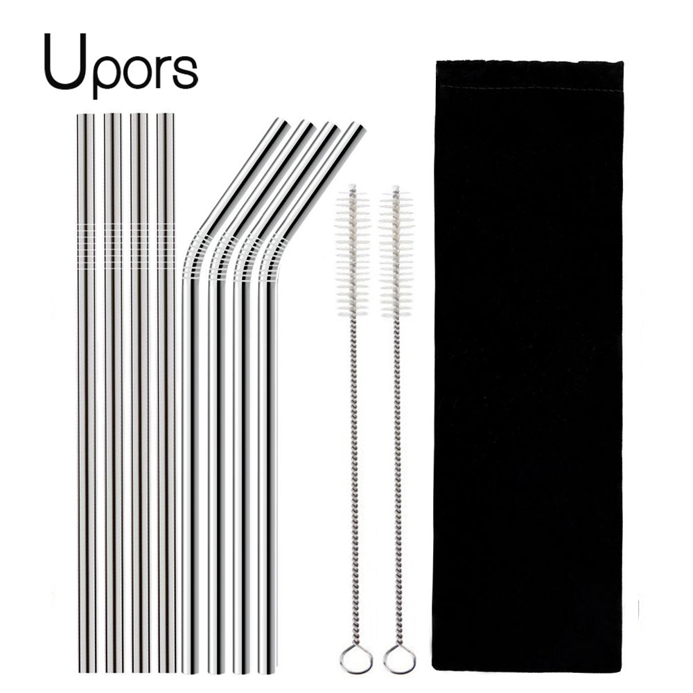Stainless Steel Reusable Drinking Straw with Cleaner Brush