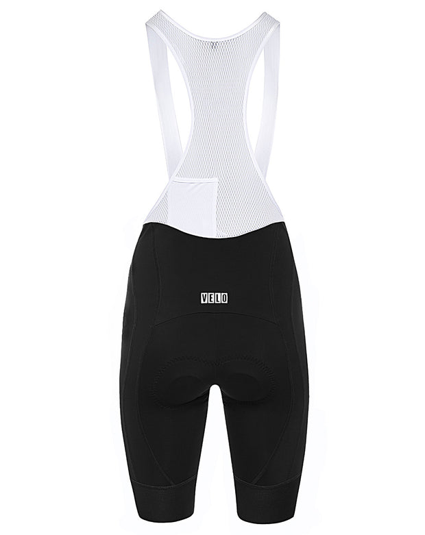 Pro Fit Bib Shorts Black/White Women