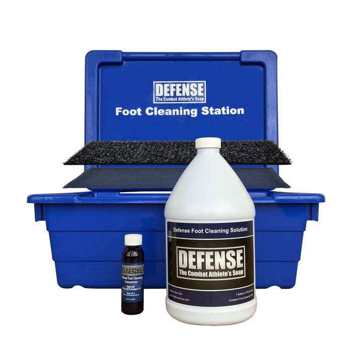 Defense Foot Cleaning Station with Solution