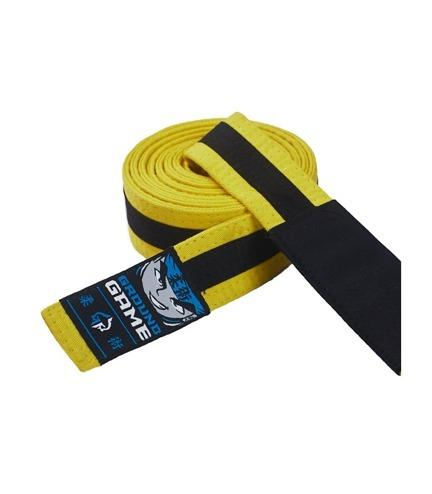 Ground Game BJJ Kids Belt Yellow with Black Stripe