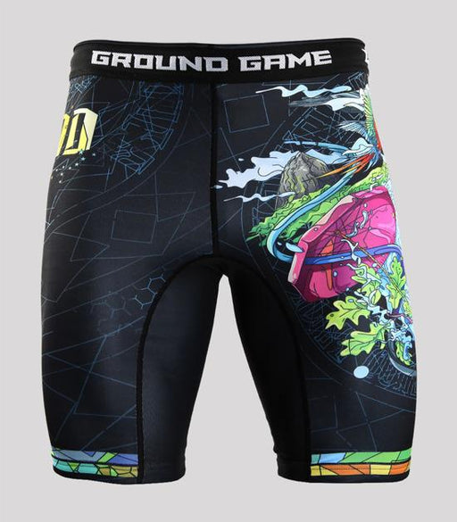 Front view of a Ground Game Carioca Vale Tudo Shorts