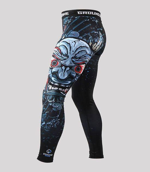Side view of a Ground Game Oni Black Leggings