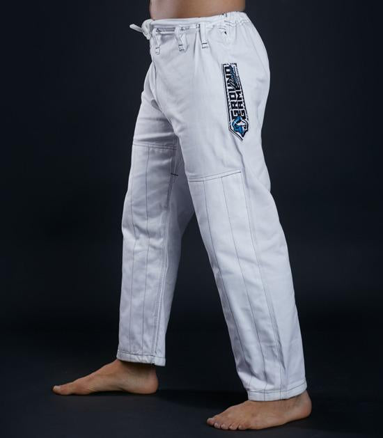 Pants of a Ground Game Player BJJ Gi White