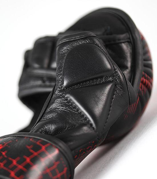 Details of a Ground Game Red Skull MMA Sparing Gloves