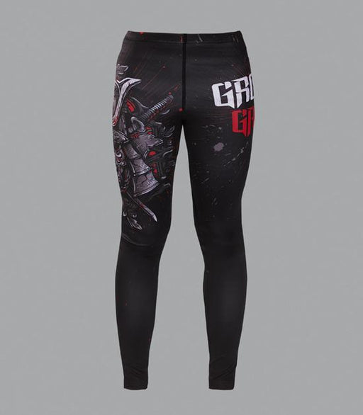 Front view of a Ground Game Samurai Mask Leggings