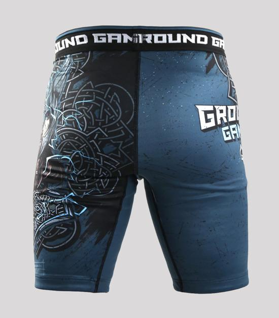 Back view of a Ground Game Thor Vale Tudo Shorts