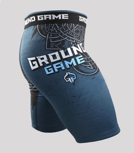 Left side view of a Ground Game Thor Vale Tudo Shorts